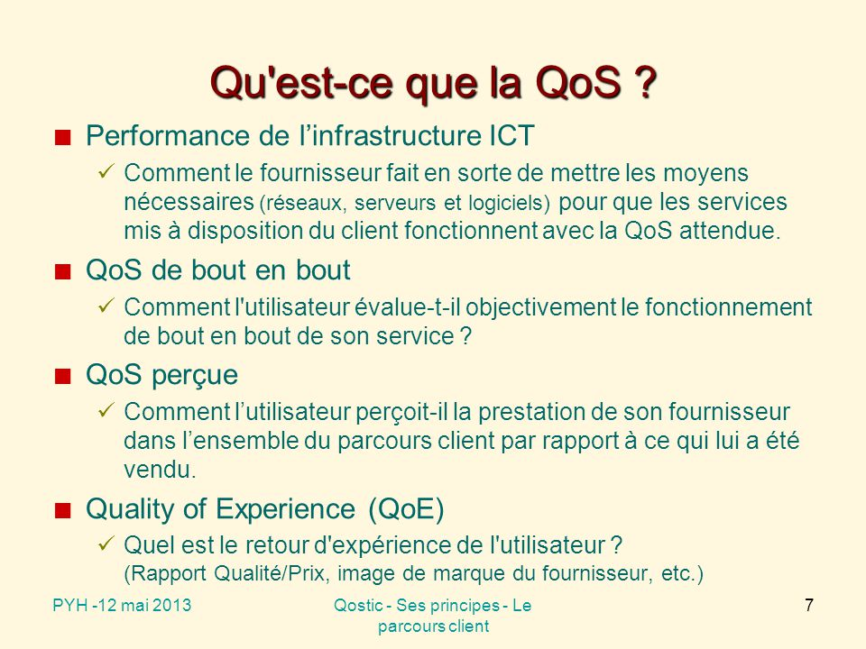 Performance de l'infrastructure ICT