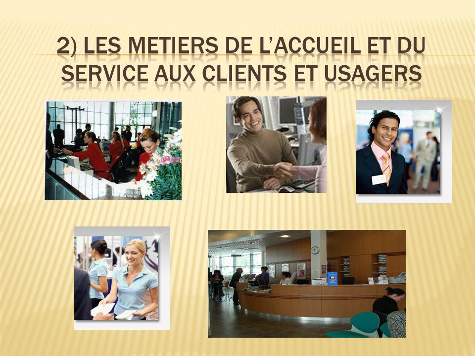 2) LES METIERS DE L'ACCUEIL ET DU SERVICE AUX CLIENTS ET USAGERS