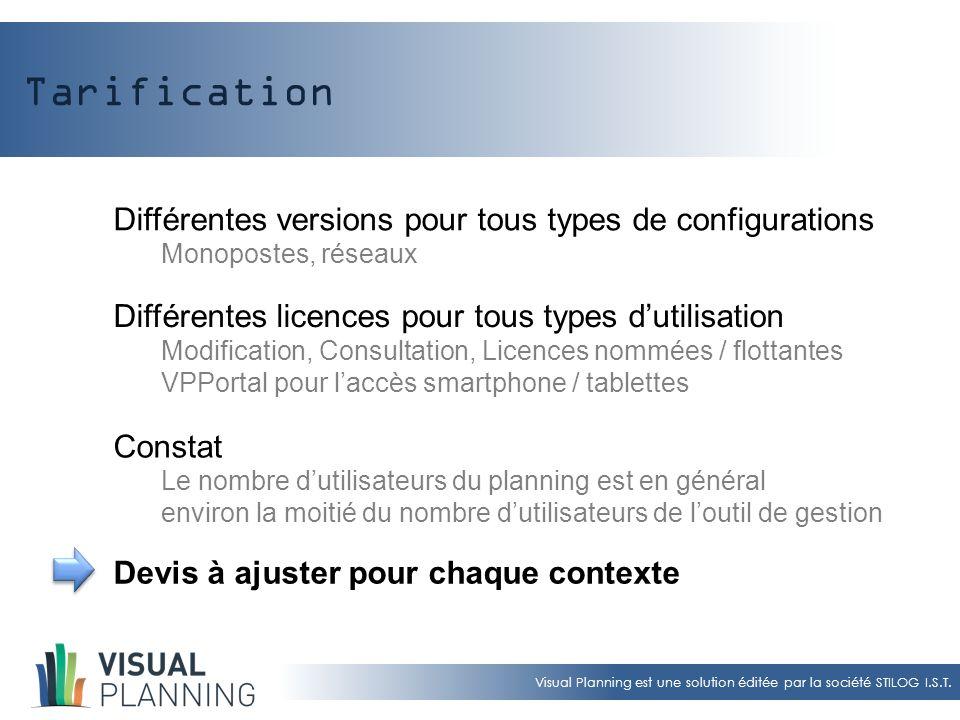 Tarification Différentes versions pour tous types de configurations