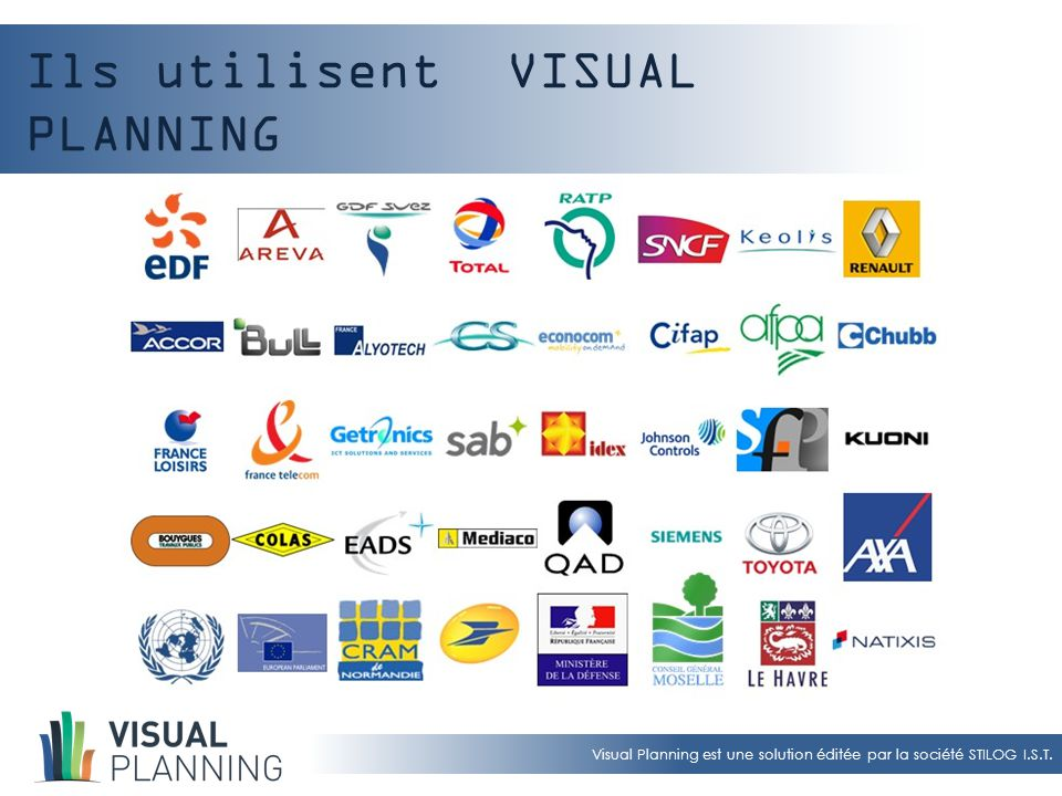 Ils utilisent VISUAL PLANNING