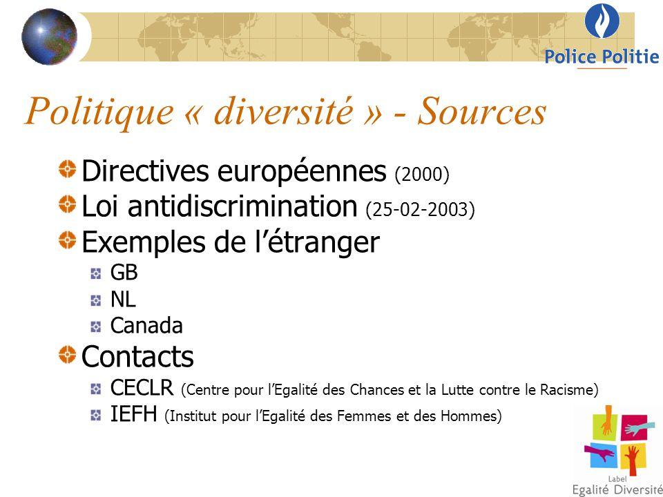 Politique « diversité » - Sources