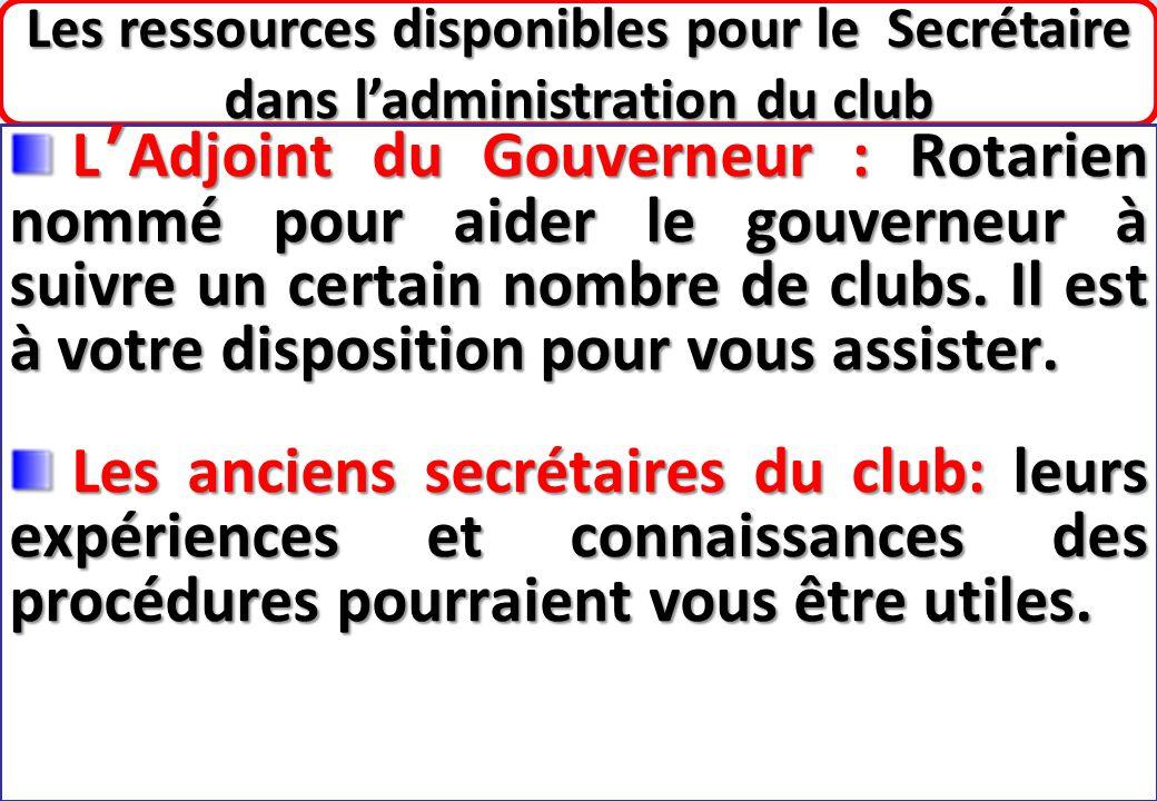 SEMINAIRE DE FORMATION SUR LE SECRETAIRE DU CLUB