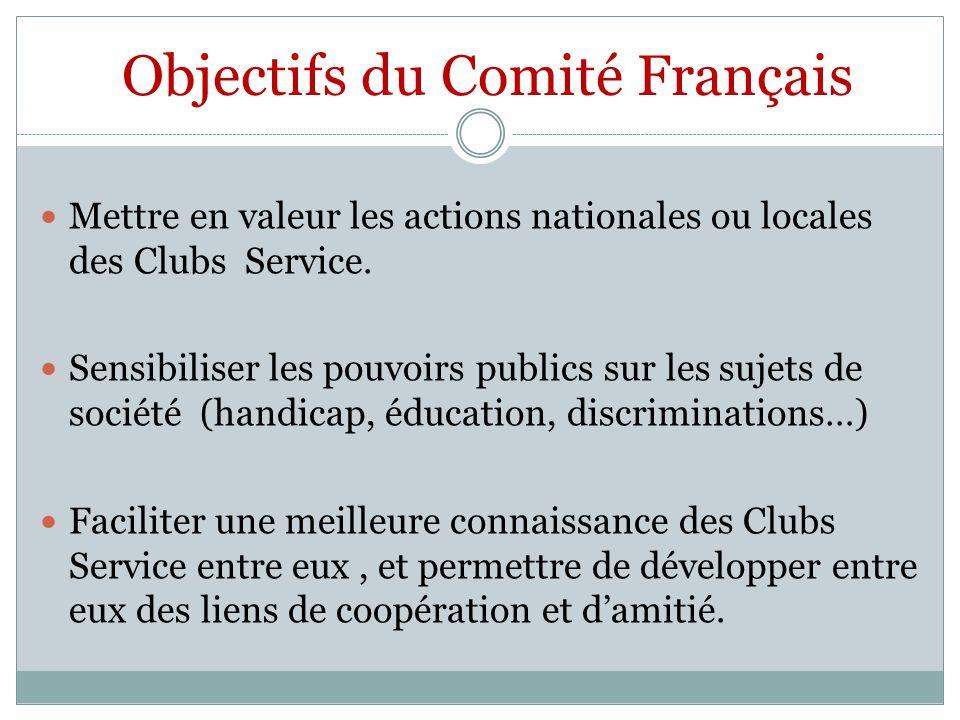 Objectifs du Comité Français