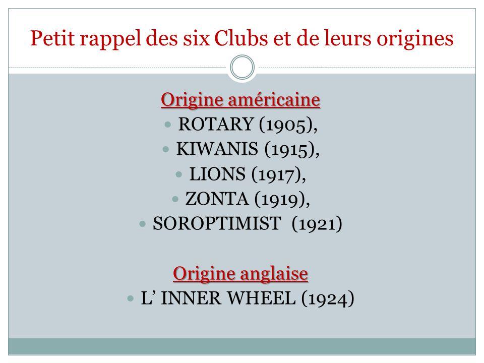 Petit rappel des six Clubs et de leurs origines
