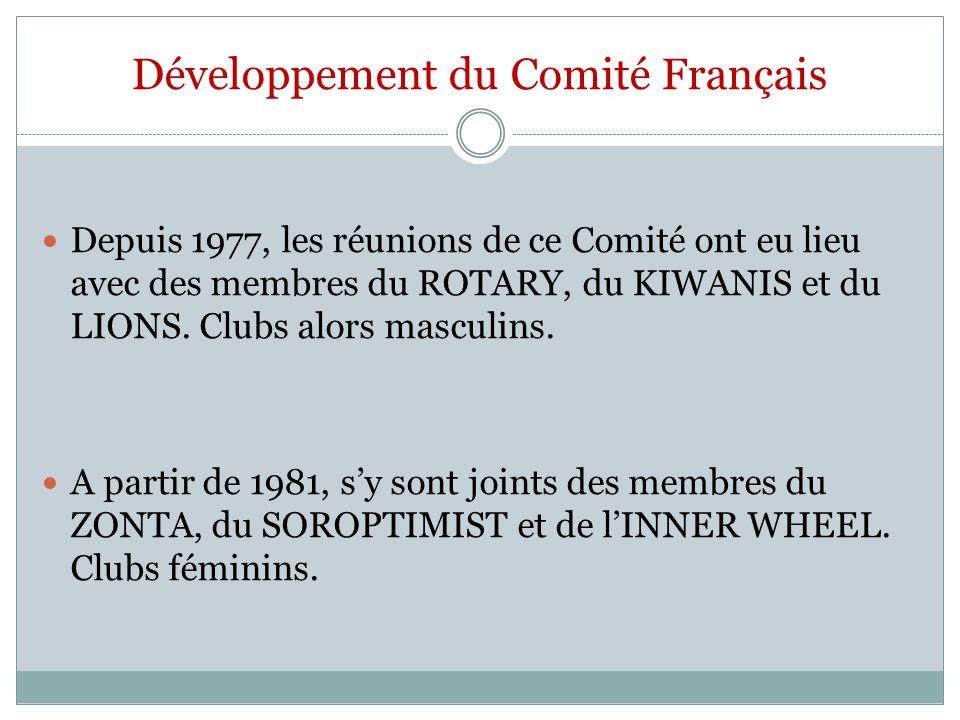 Développement du Comité Français
