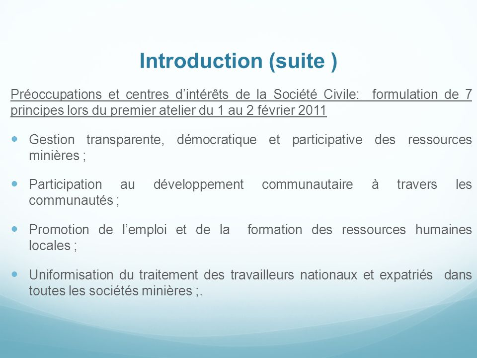 Introduction (suite )