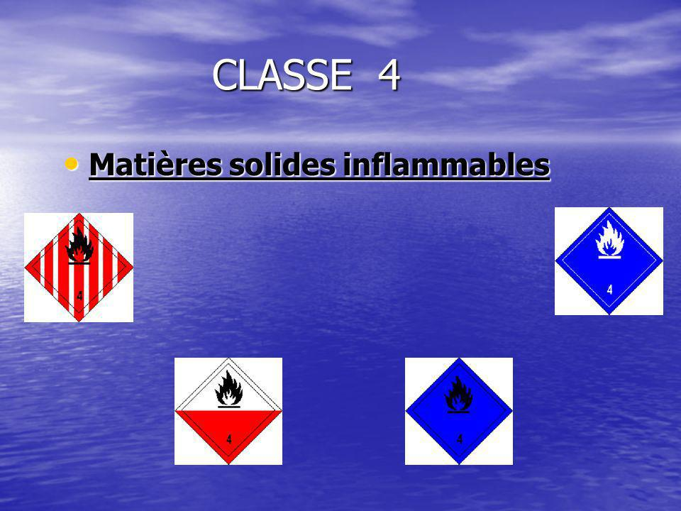 Matières solides inflammables