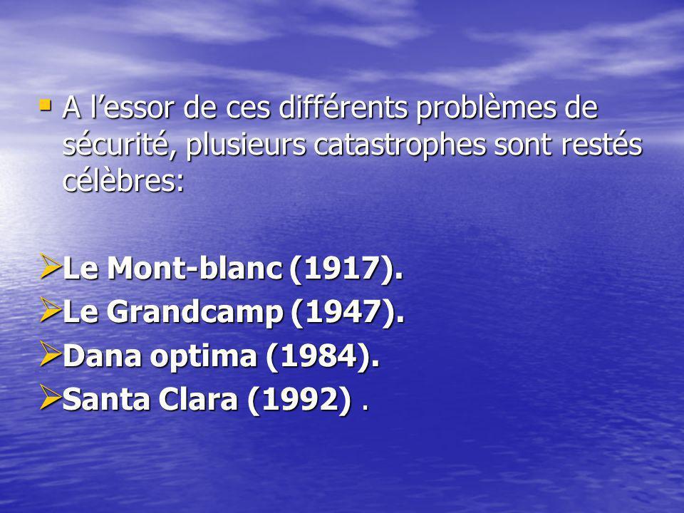 A l'essor de ces différents problèmes de sécurité, plusieurs catastrophes sont restés célèbres: