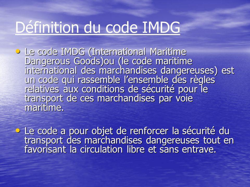 Définition du code IMDG