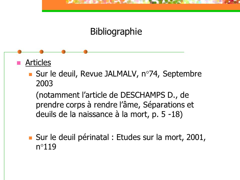 Bibliographie Articles