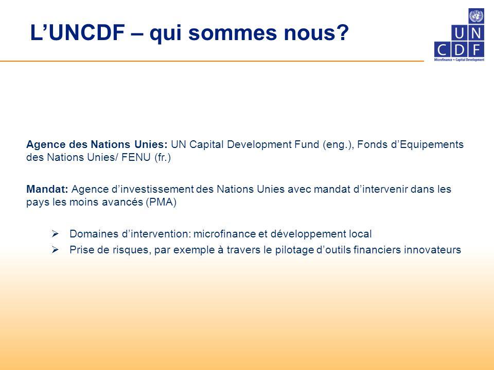 L'UNCDF – qui sommes nous