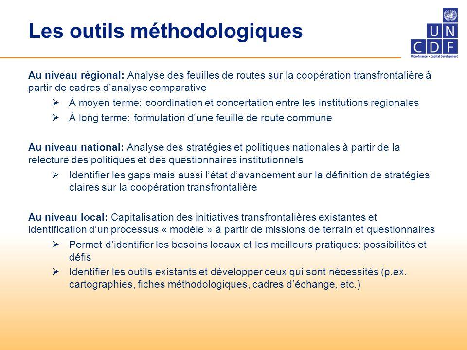 Les outils méthodologiques