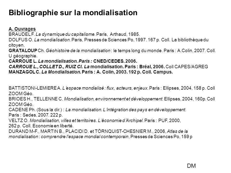 Bibliographie sur la mondialisation