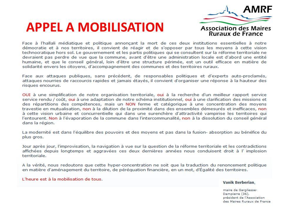 APPEL A MOBILISATION Plus d'infos sur amrf@amrf.fr