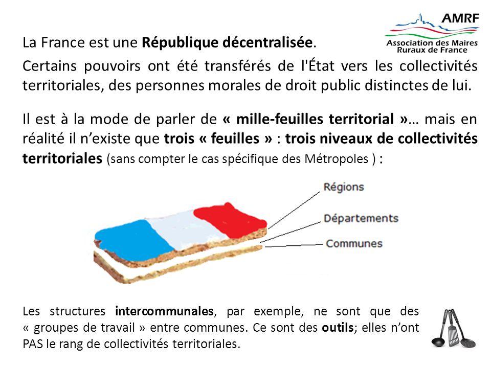 La France est une République décentralisée