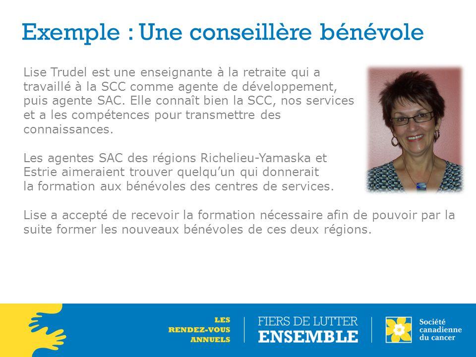 Exemple : Une conseillère bénévole