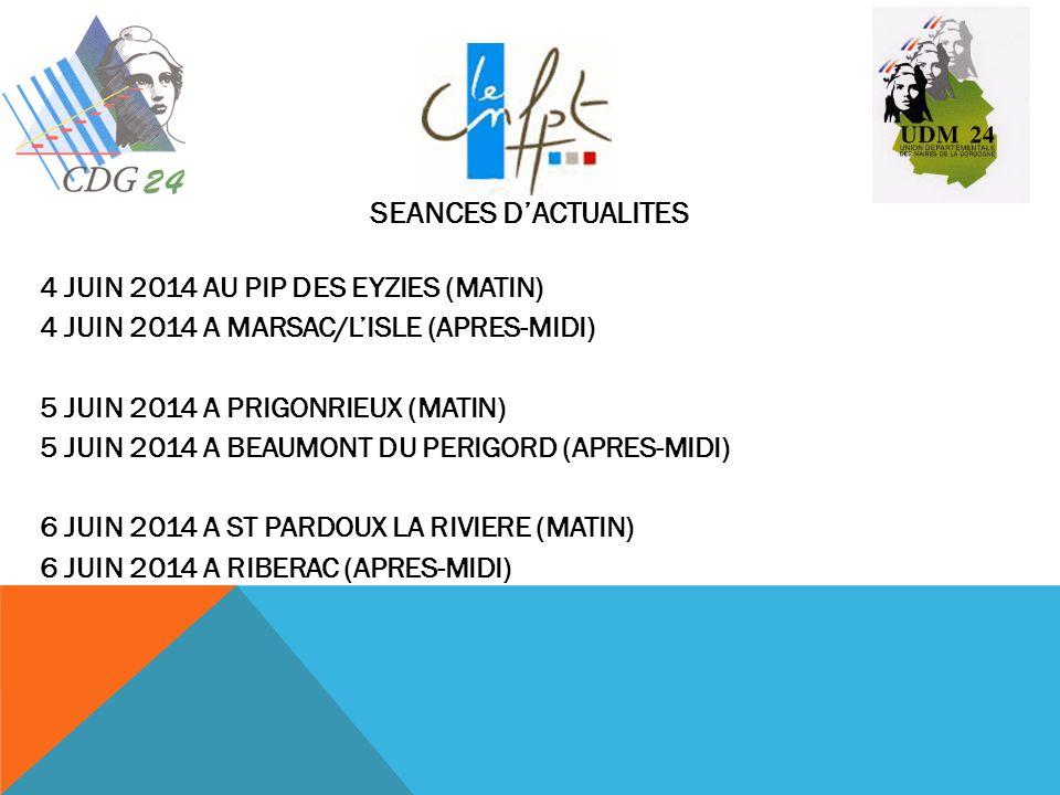 SEANCES D'ACTUALITES 4 JUIN 2014 AU PIP DES EYZIES (MATIN)
