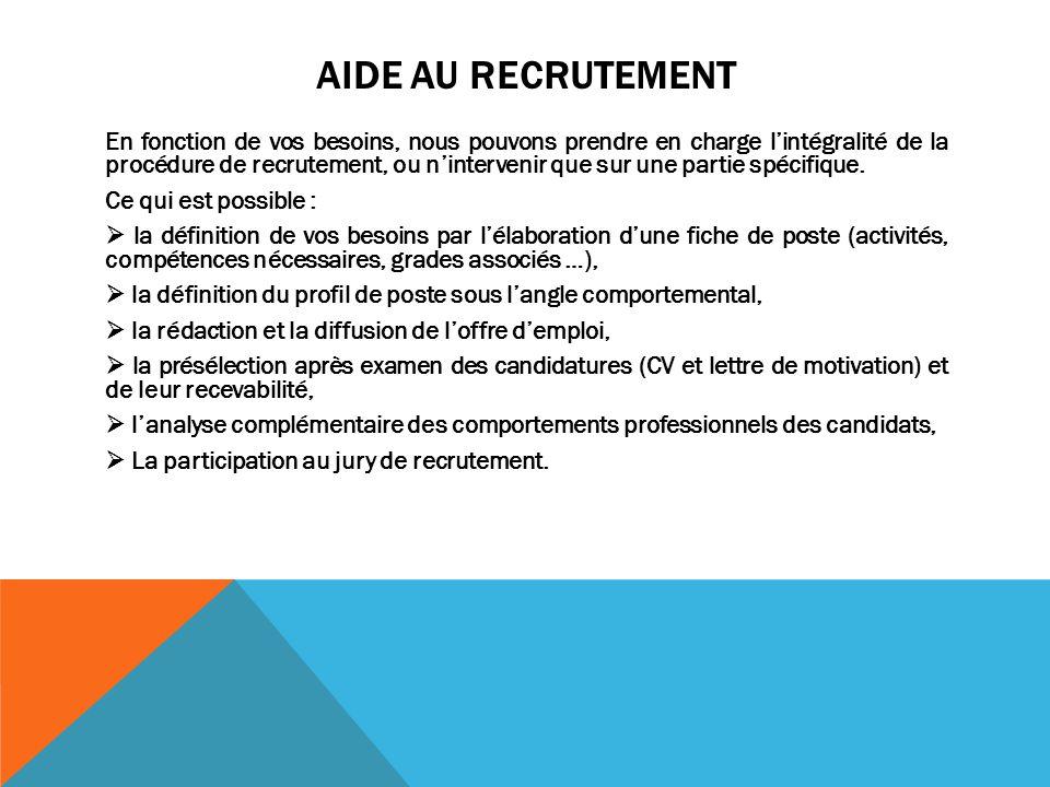 Aide au recrutement