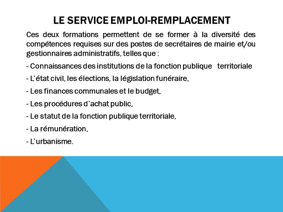 LE SERVICE EMPLOI-REMPLACEMENT