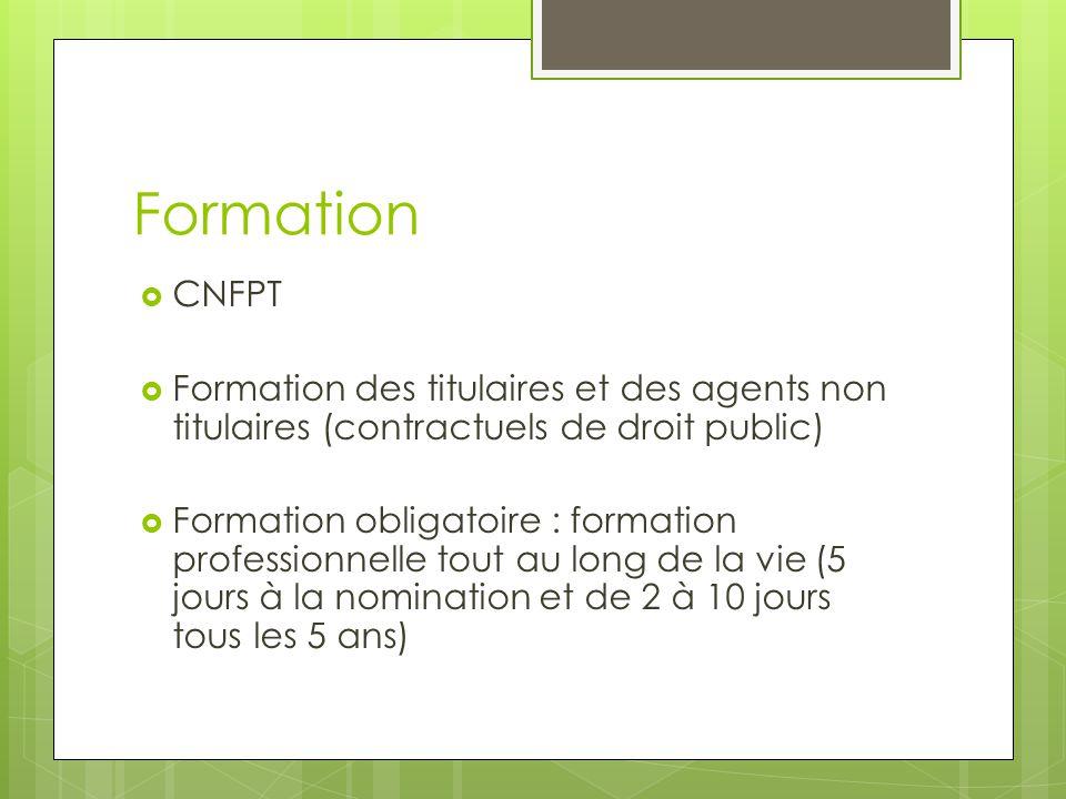 Formation CNFPT. Formation des titulaires et des agents non titulaires (contractuels de droit public)