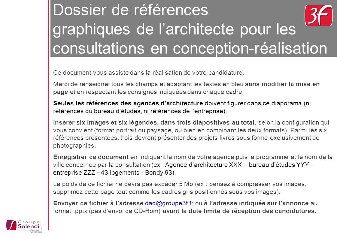 Dossier de références graphiques de l'architecte pour les consultations en conception-réalisation