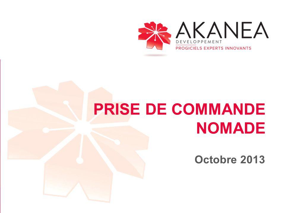 PRISE DE COMMANDE NOMADE