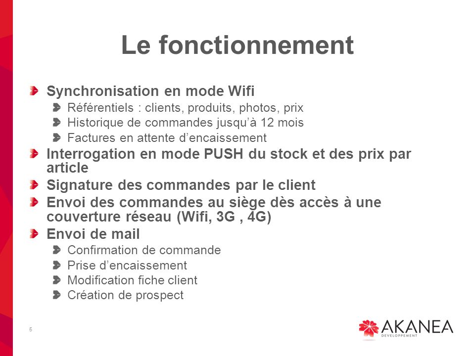 Le fonctionnement Synchronisation en mode Wifi