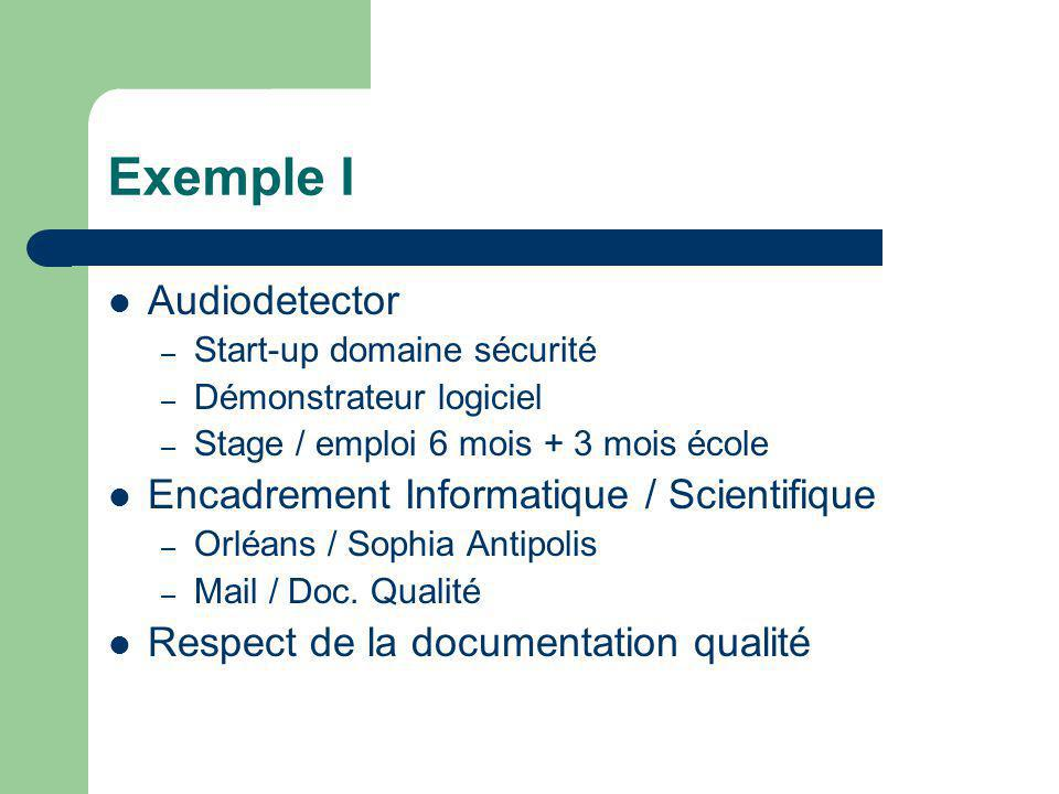 Exemple I Audiodetector Encadrement Informatique / Scientifique