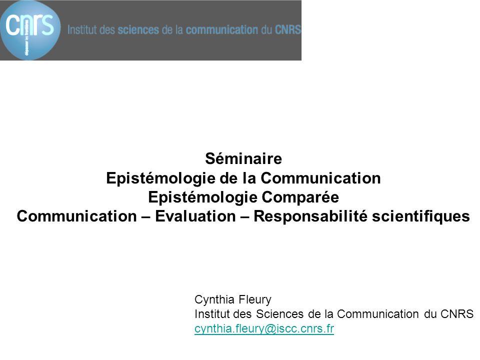 Epistémologie de la Communication Epistémologie Comparée