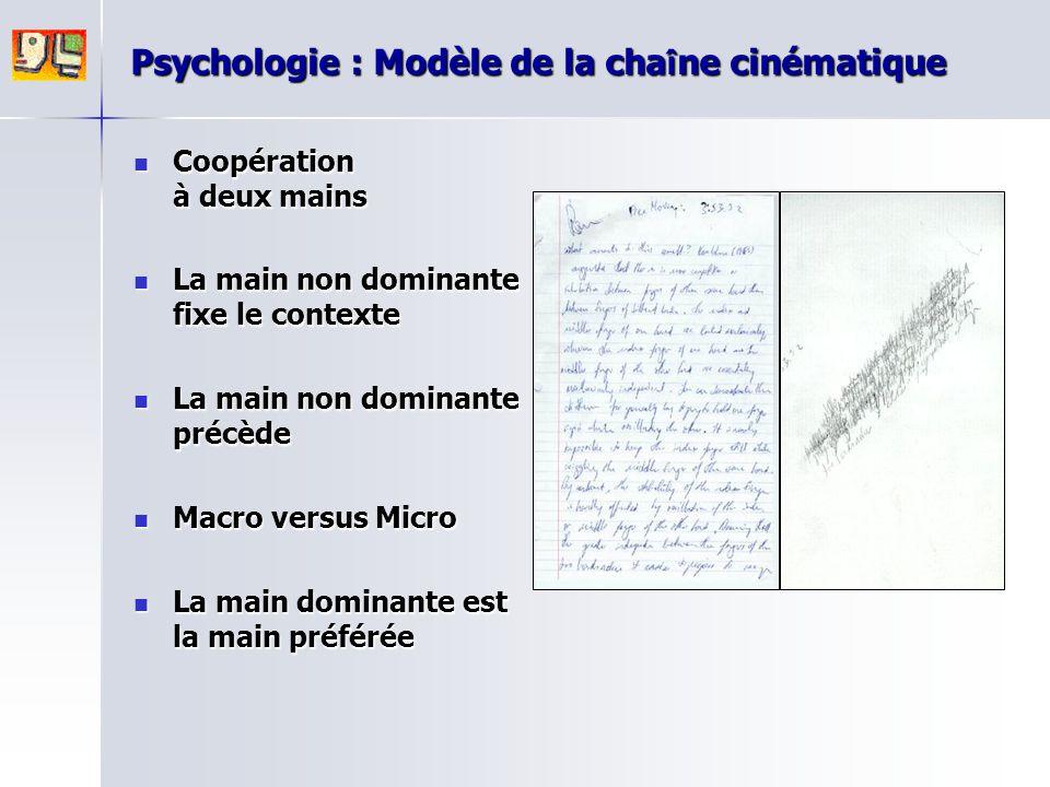 Psychologie : Modèle de la chaîne cinématique