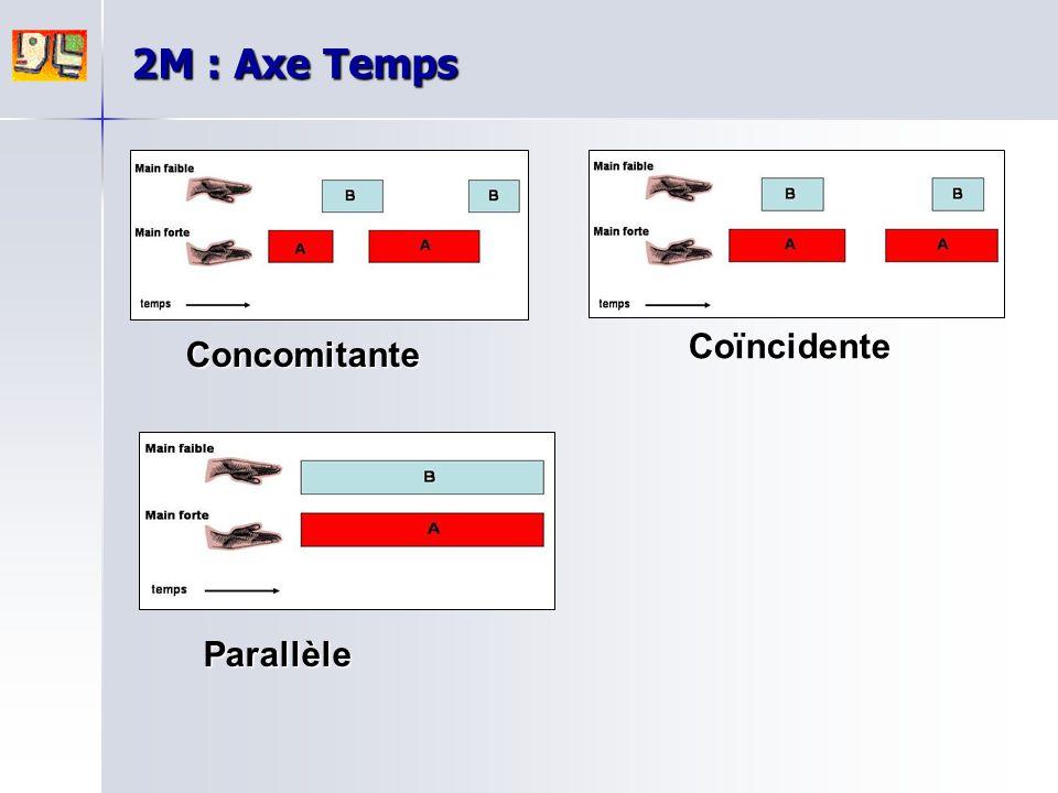 2M : Axe Temps Coïncidente Concomitante Parallèle