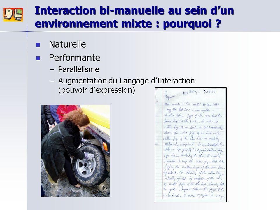 Interaction bi-manuelle au sein d'un environnement mixte : pourquoi