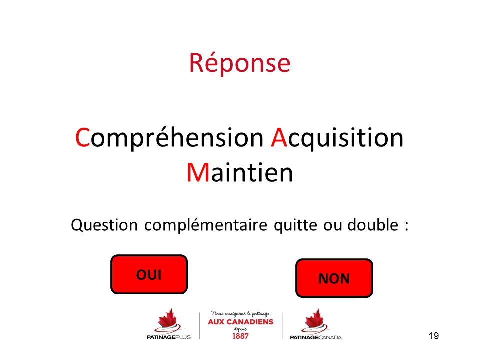 Compréhension Acquisition Maintien