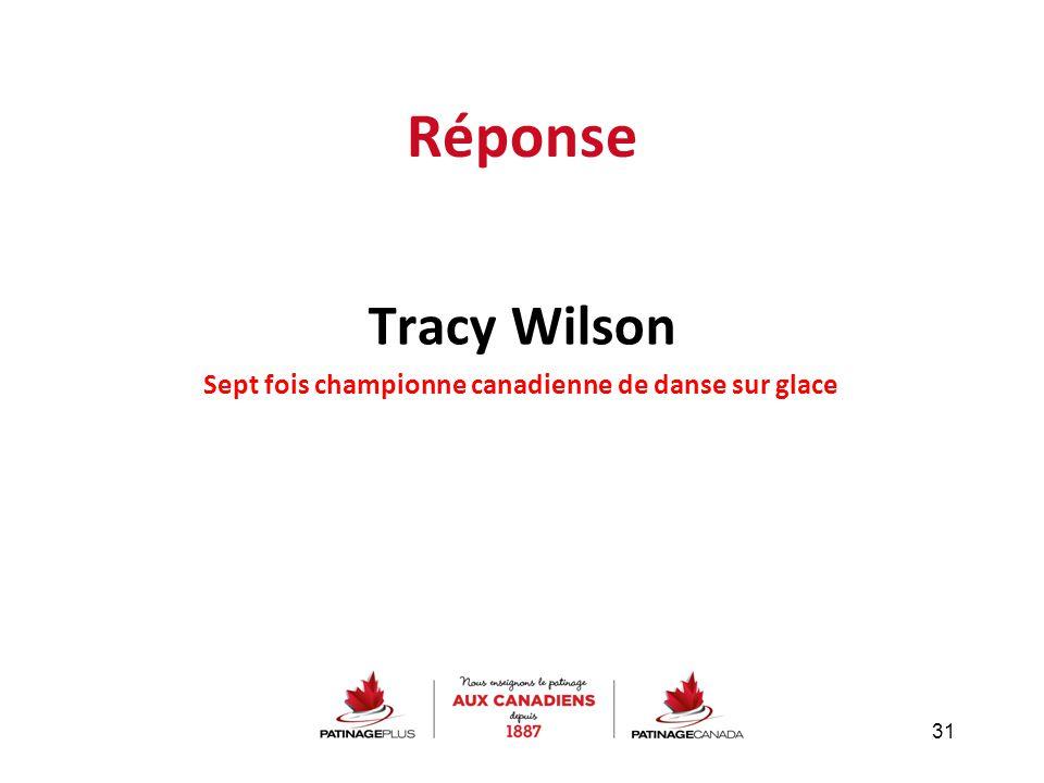 Sept fois championne canadienne de danse sur glace