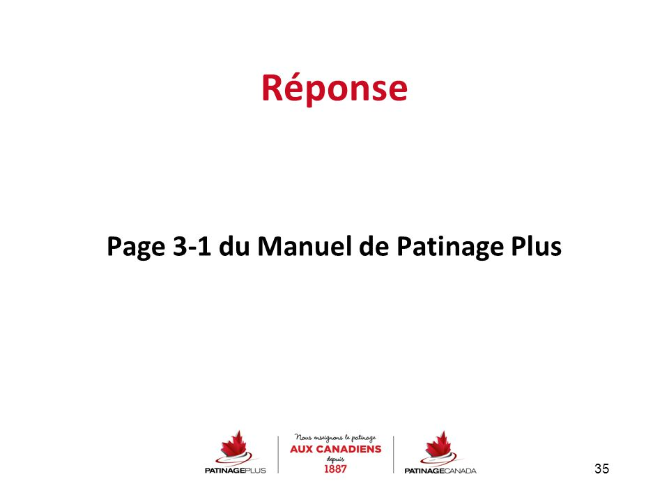 Page 3-1 du Manuel de Patinage Plus