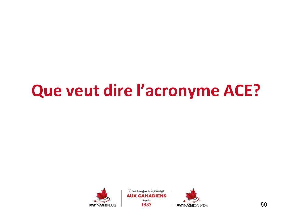 Que veut dire l'acronyme ACE