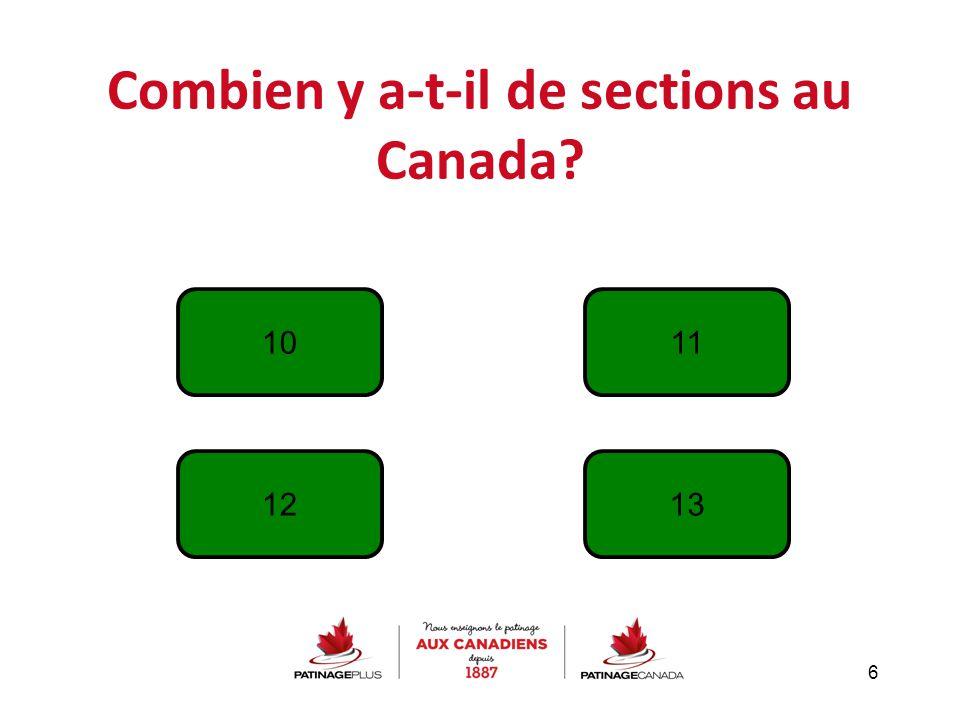 Combien y a-t-il de sections au Canada