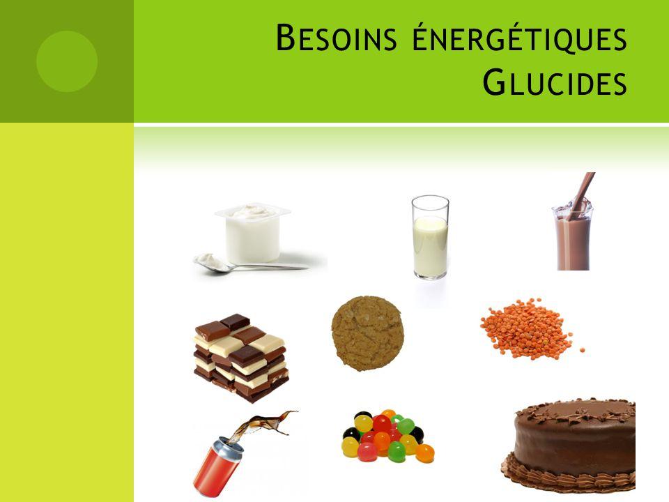 Besoins énergétiques Glucides