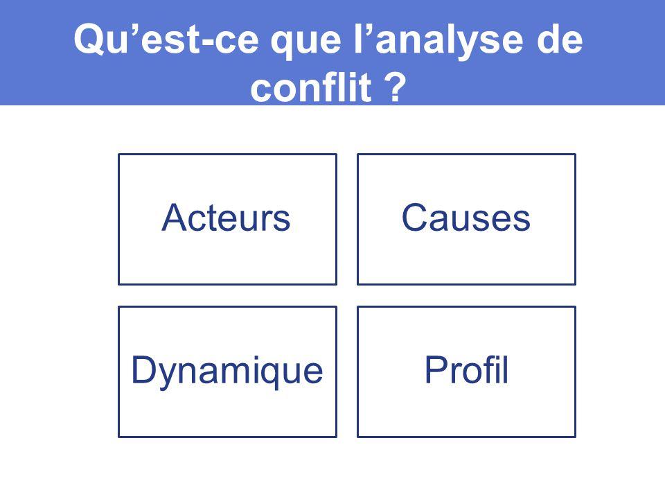 Qu'est-ce que l'analyse de conflit