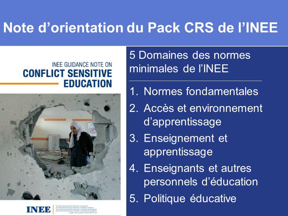 Note d'orientation du Pack CRS de l'INEE