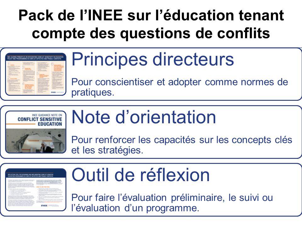 Pack de l'INEE sur l'éducation tenant compte des questions de conflits