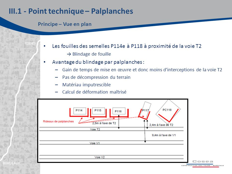 III.1 - Point technique – Palplanches