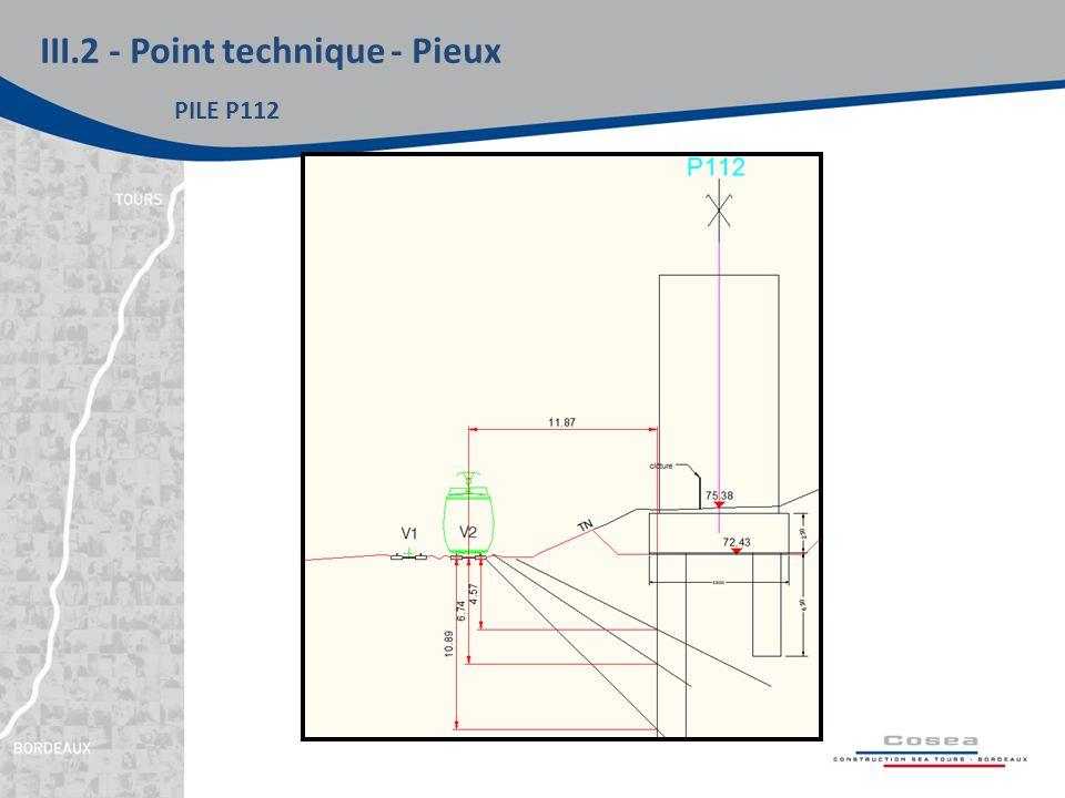III.2 - Point technique - Pieux