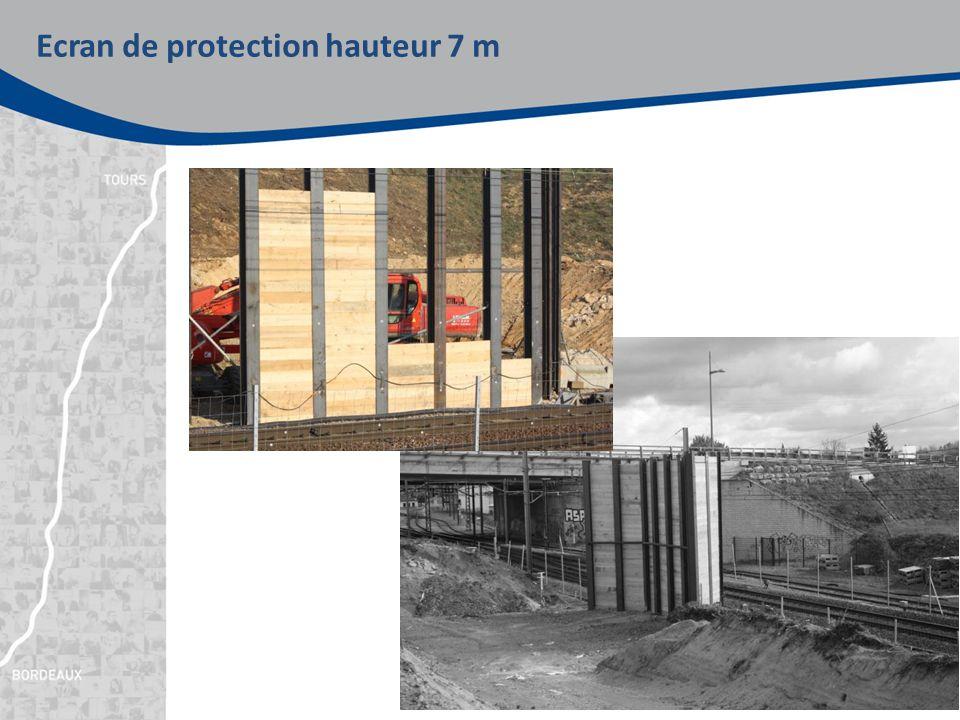 Ecran de protection hauteur 7 m