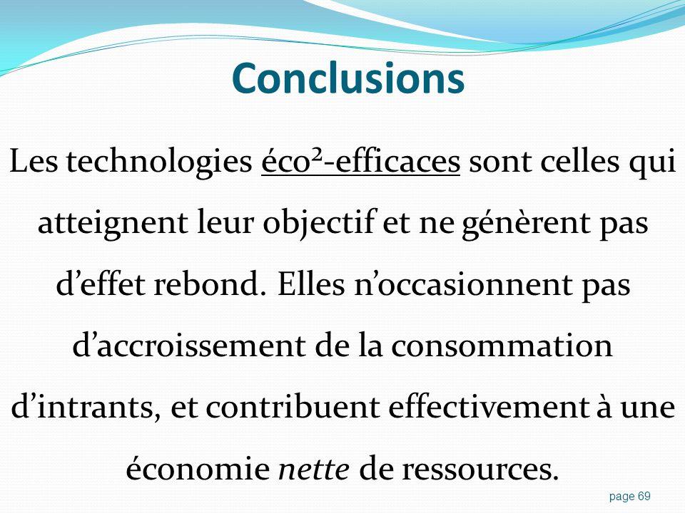 Conclusions Instruments politiques pour contrer les effets rebond :