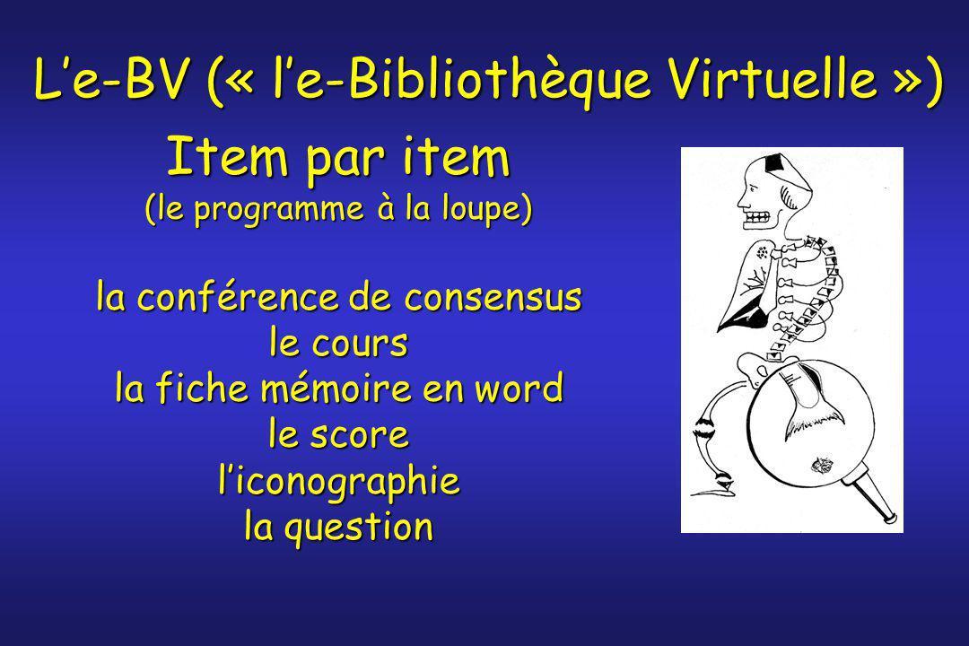 L'e-BV (« l'e-Bibliothèque Virtuelle »)