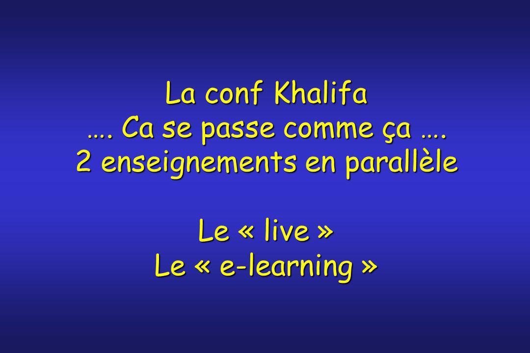 La conf Khalifa …. Ca se passe comme ça …
