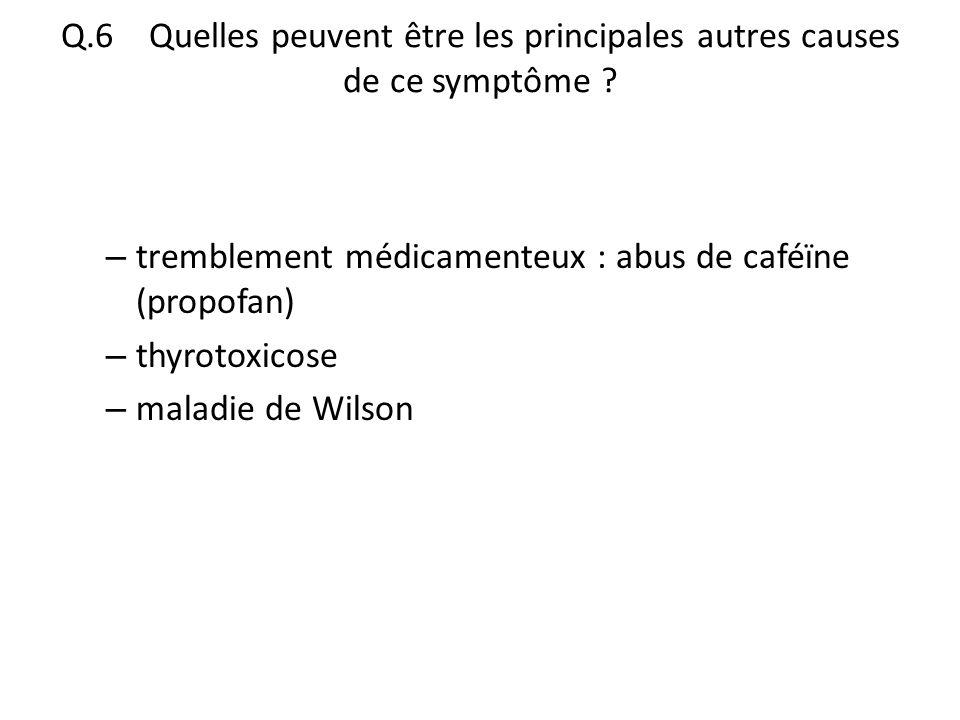Q.6 Quelles peuvent être les principales autres causes de ce symptôme