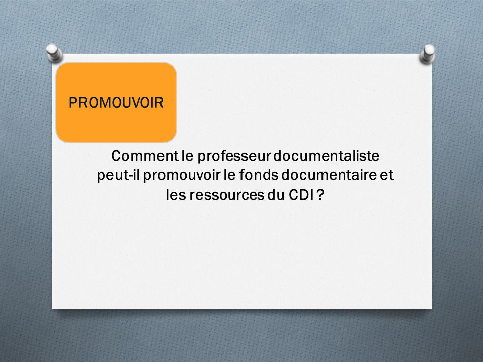 Comment le professeur documentaliste