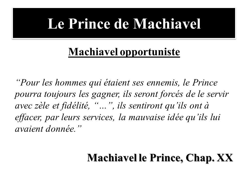 Machiavel opportuniste